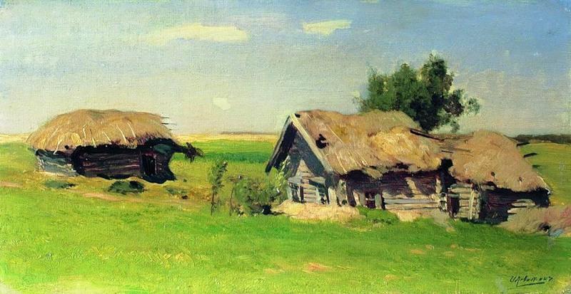 "... ). Название картины: ""Пейзаж с избами: bmcxeighteen.appspot.com/sovremennye-hudozhniki-i-ih-kartiny..."