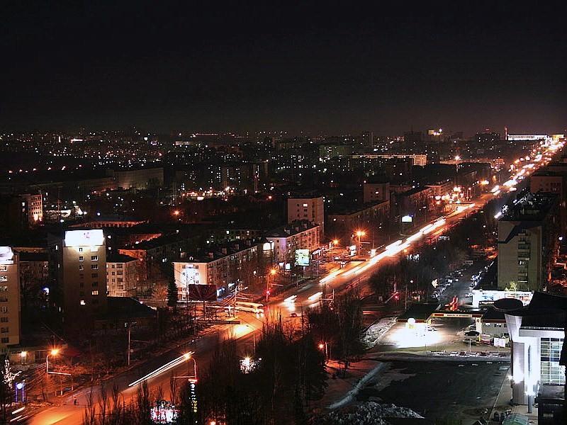 Ночная Уфа.