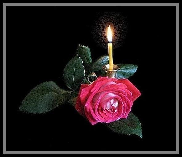 Открытки траурные свечи мерцающие, днем