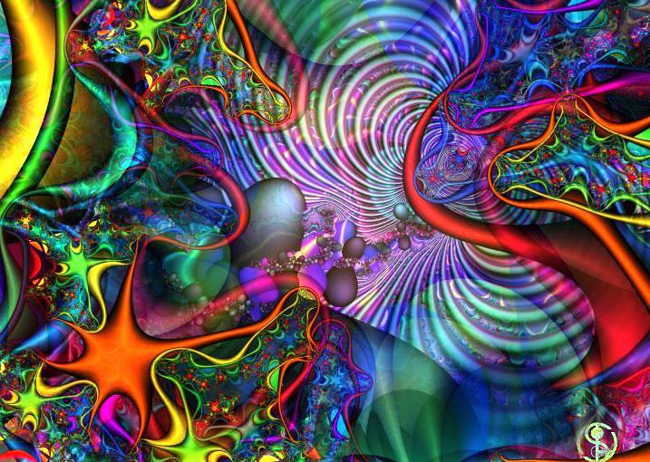 как сделать психоделические картинки