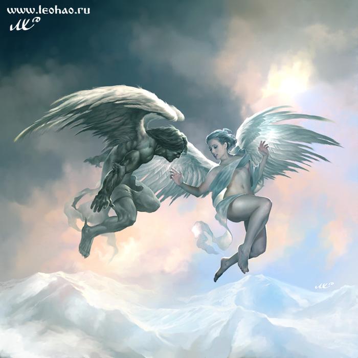 Анимационные картинки Ангелы скачать для гостевых