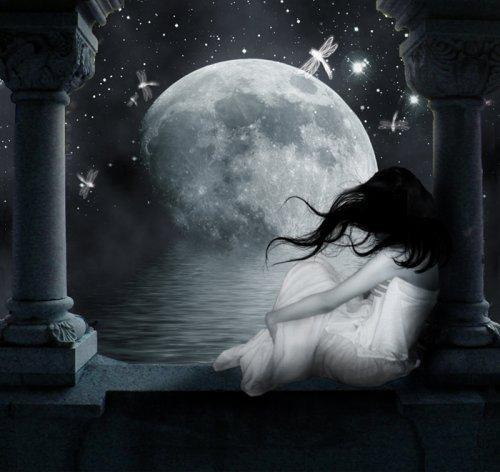 девушка ночь картинки