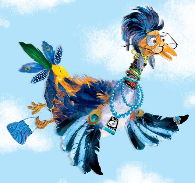 А вдруг прилетит, а вы её не узнаете. синяя птица.  Так вот ты какая, птица синяя!