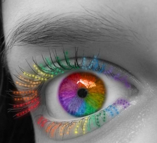 Как сделать черно белое с цветными глазами