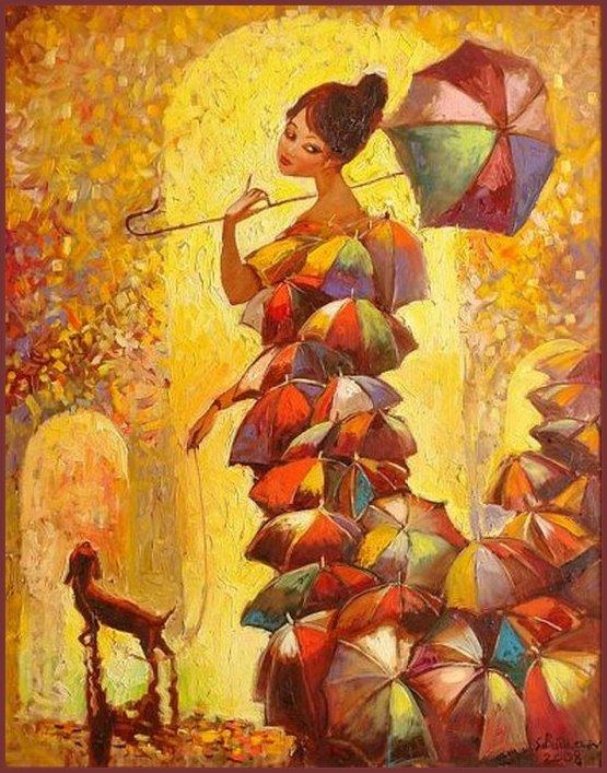 Картинки осени в образе девушки