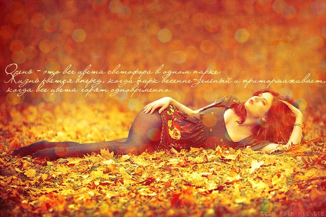 Осень кружит листьями сердце