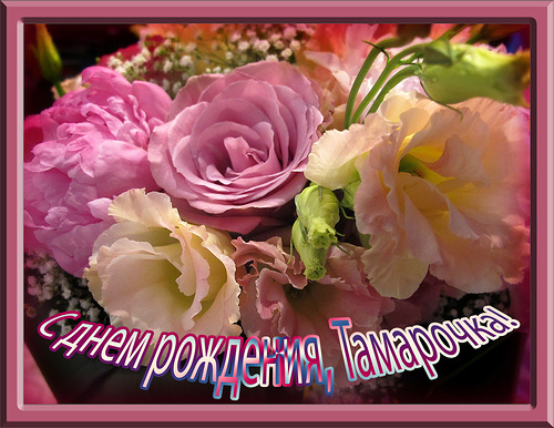 Поздравление с днем рождения тамаре в картинках