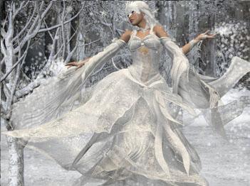Фото картинки женщин зимой
