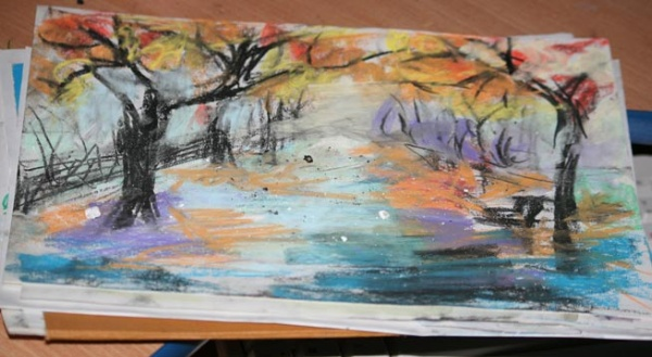 Нарисованные картинки про осень
