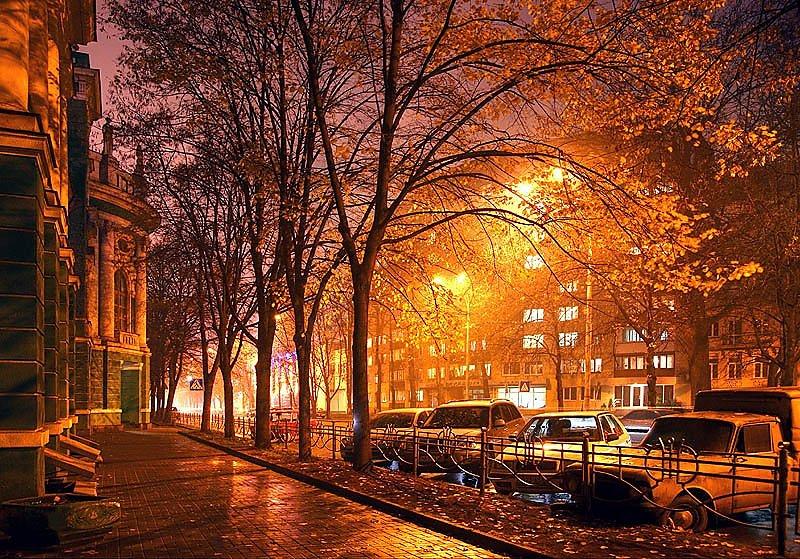 осенний вечер картинки