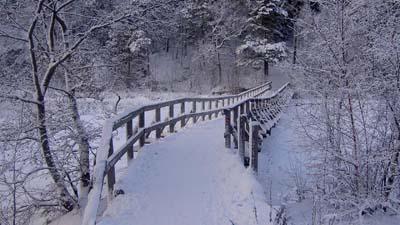 """Вышивка крестом.  190x143 крестов * 49 цветов * Теги: мост, зима, пейзаж, снег.  Схемы автора  """"zita """". zita."""