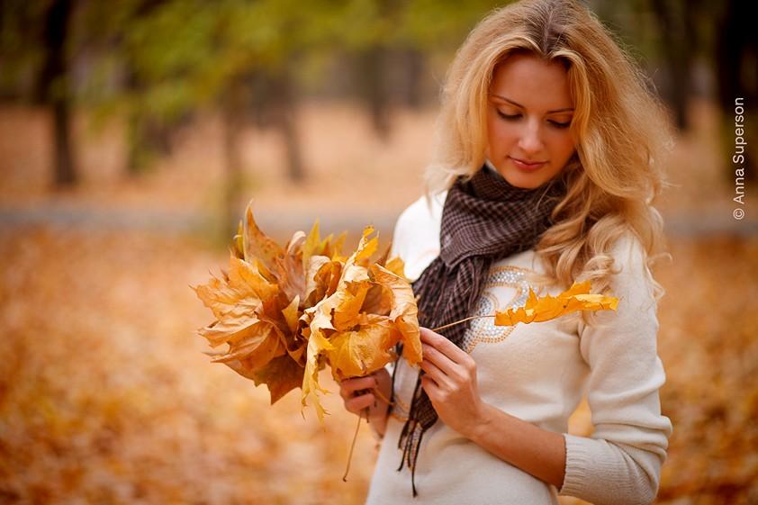 Девушки осенью картинки