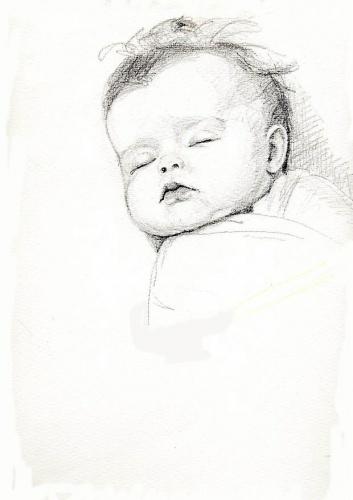 Рисунки младенца карандашом своими руками 85