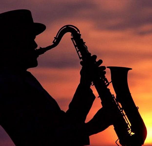 Тигром, открытки мужчина с саксофоном