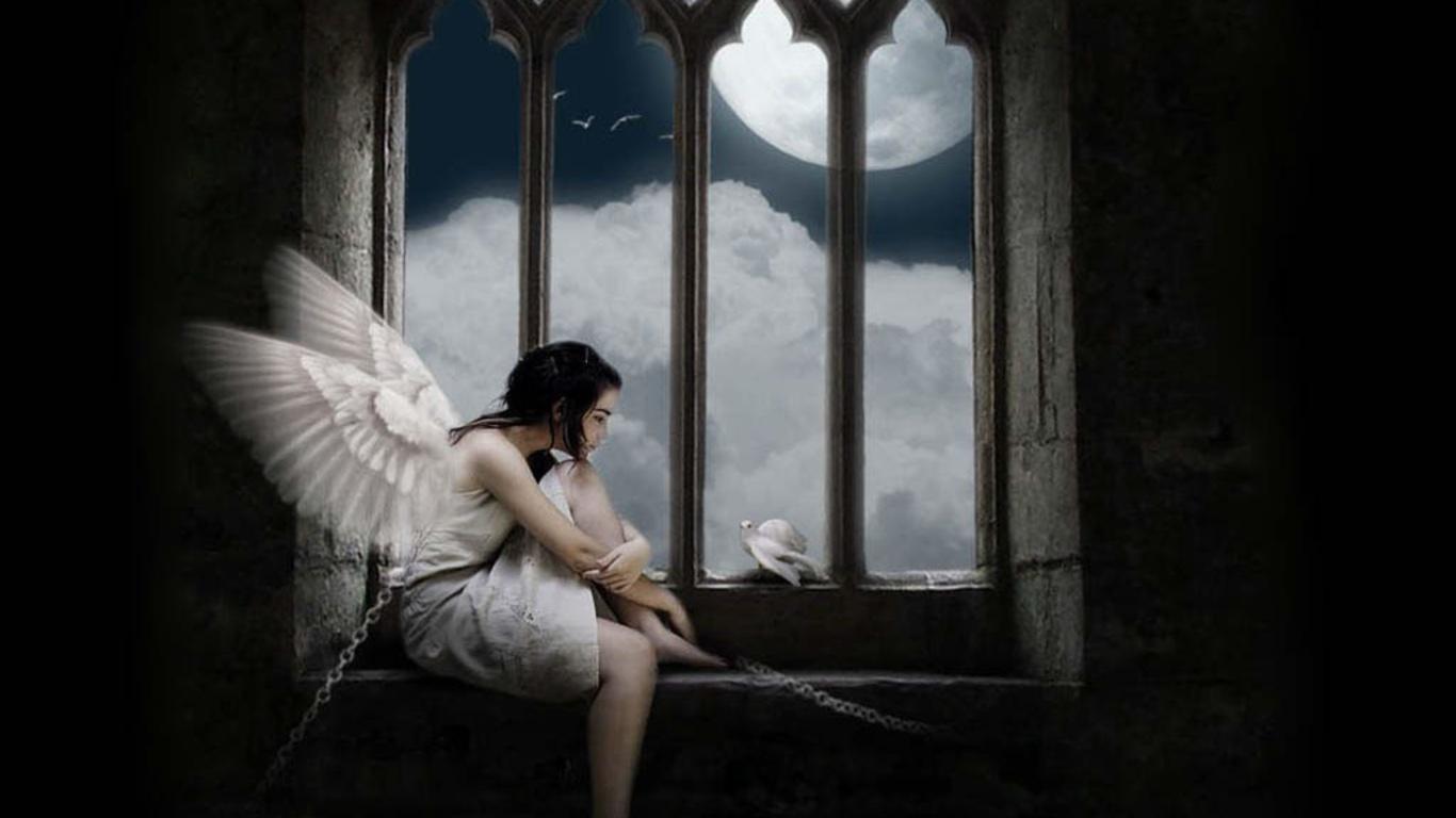 Стих ангел грустный