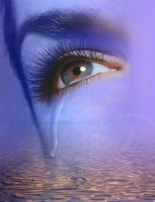 Открытка глаза со слезами, прикольный