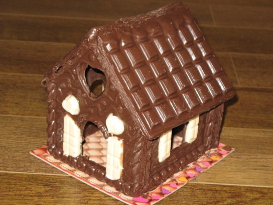 Домик из шоколада своими руками 78