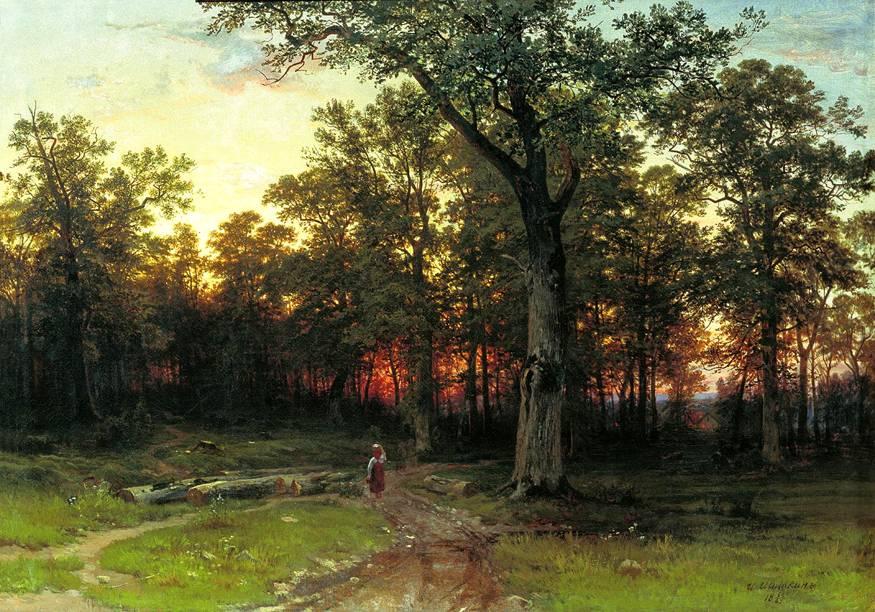 Шишкин лес вечером