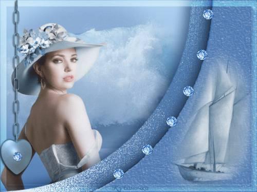 Открытки женщина в белом