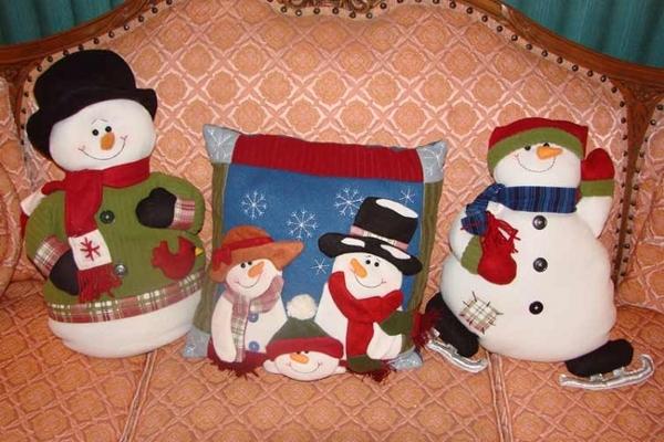 Подушка снеговик своими руками