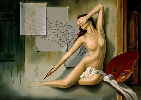 фото девушек голых рисованые