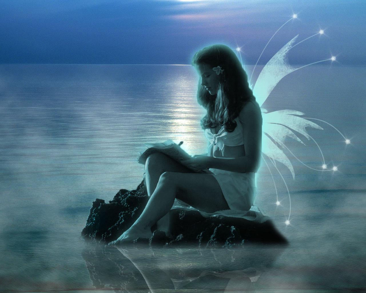Фото девушек в лунном свете