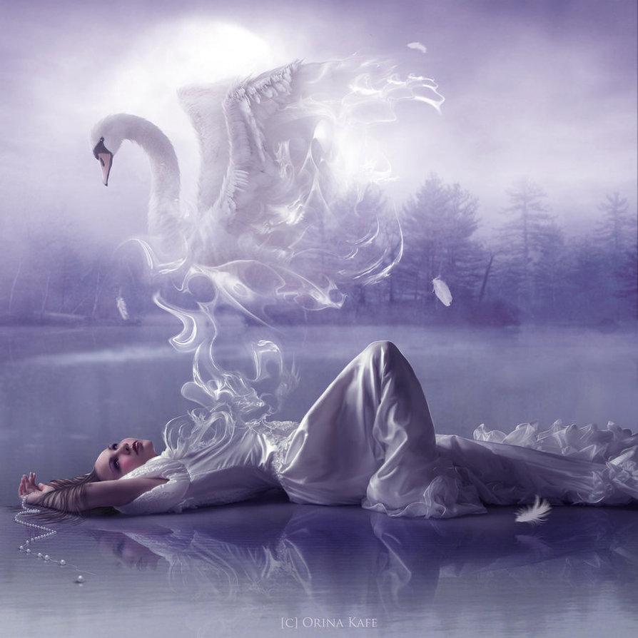 Мечтающая женщина...
