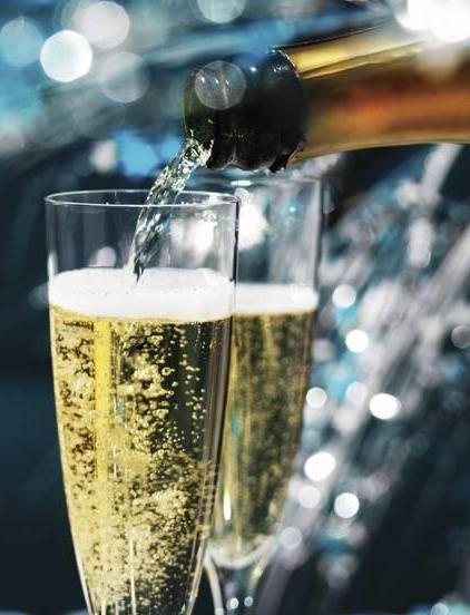 Шампанское картинка анимация