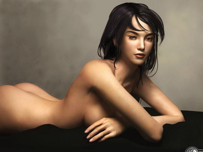 рисунки 3d голых женщин