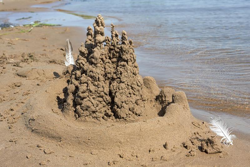 Как сделать дом из песка фото