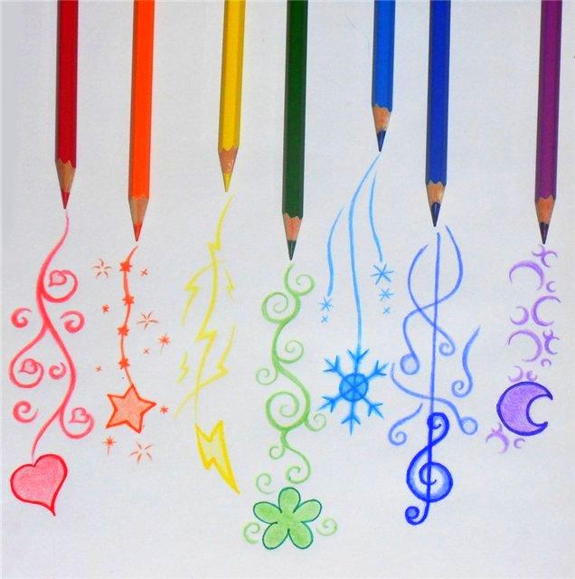 Как раскрасить рисунок в карандашах