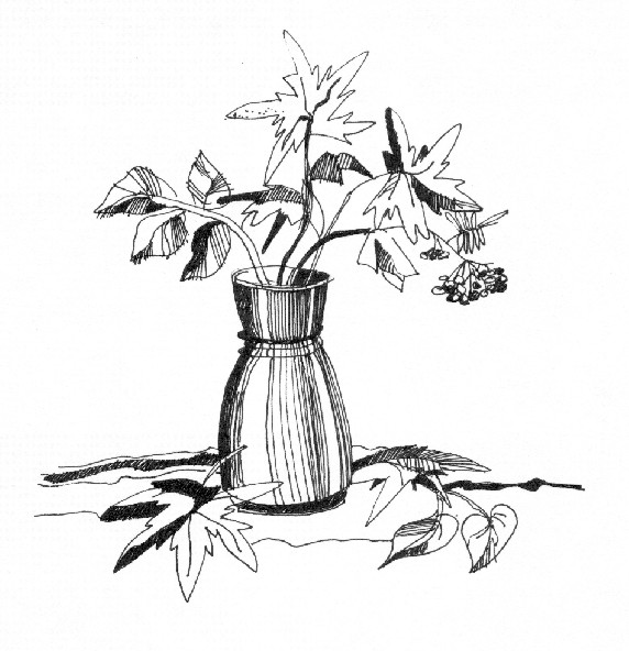 рисунок осенний букет: