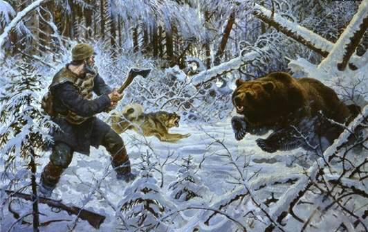 Картинки по запросу картинка охотник в тайге