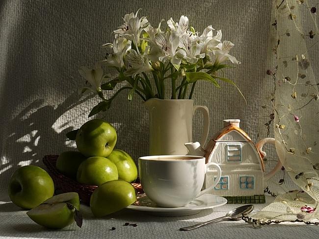 Открытки с яблоками доброе утро, класс