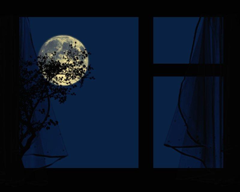 Ночь и луна картинка