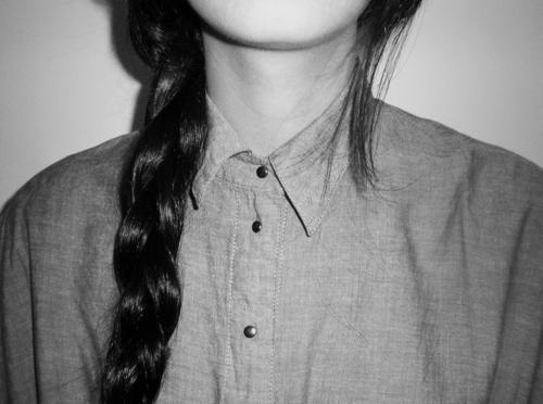 Девушка черно белое без лица на аву