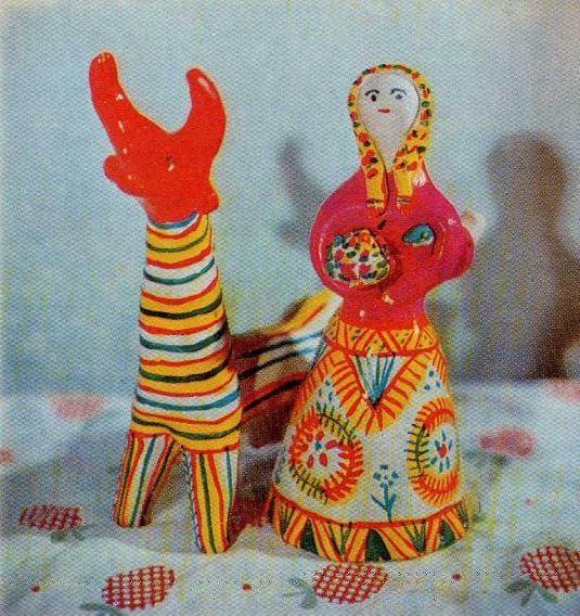 Филимоновская игрушка из глины своими руками видео