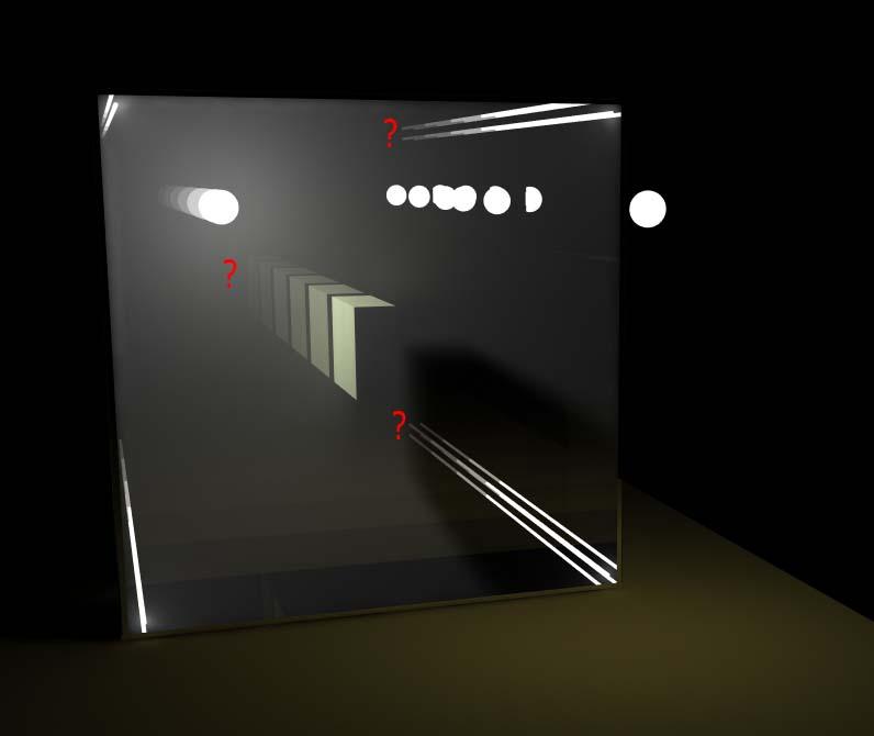 Прозрачное зеркало как сделать
