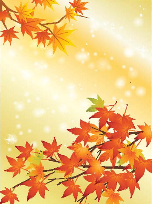 Открытки с осенними листьями с днем рождения