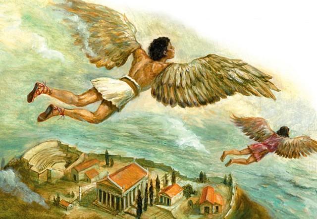 картинки из мифов древней греции дедал и икар генеральным директором покинули