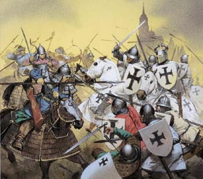 Следует сказать, что к этому времени не много оставалось в европе не христианизированных еще стран и народов, среди них оказались и обитавшие на своей исконной территории прусы (позже