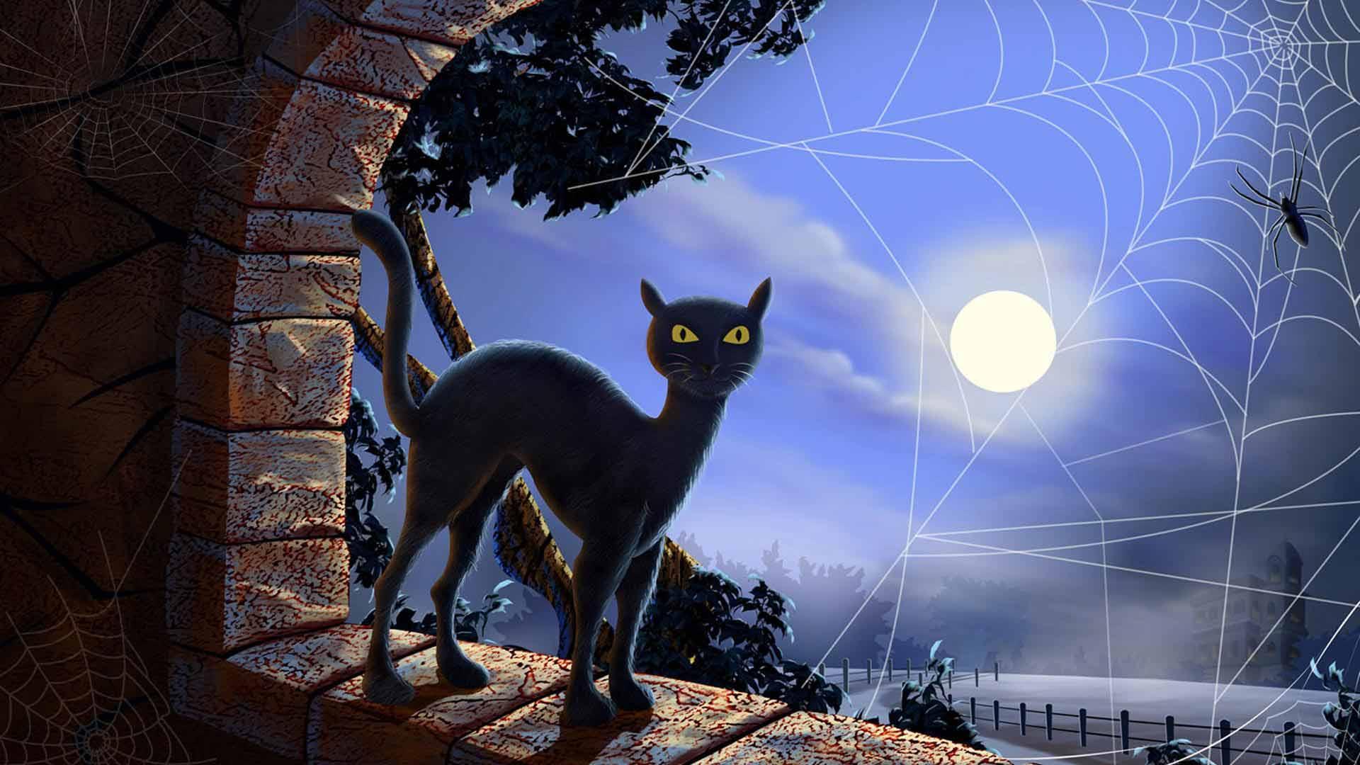 """Оригинал схемы вышивки  """"кот ночью """". кот ночью, коты в окошках, оригинал."""