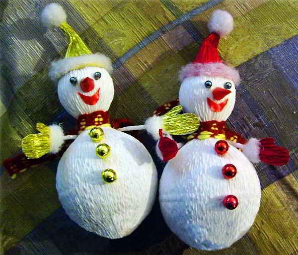 Снеговики своими руками на новый год из