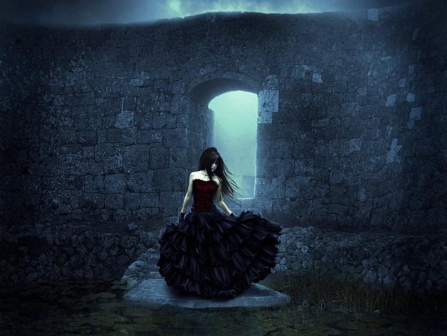 Девушка в чёрном платье фото 521-913