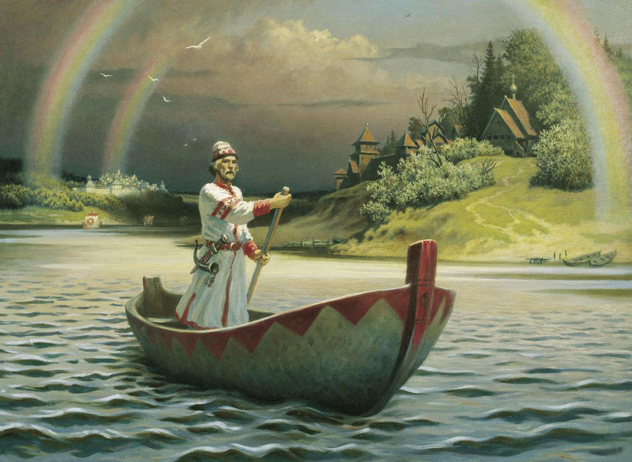 лесное озеро погоня человек в лодке