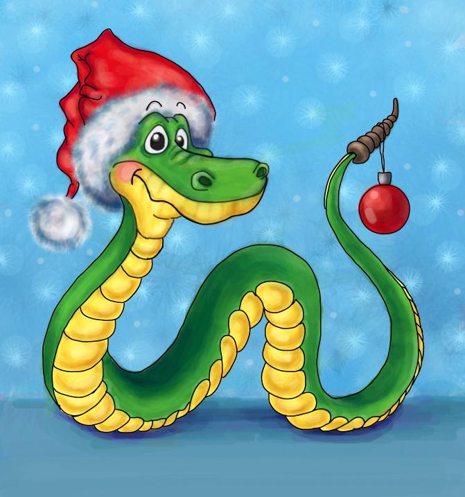 Новогодние поздравления от змеи