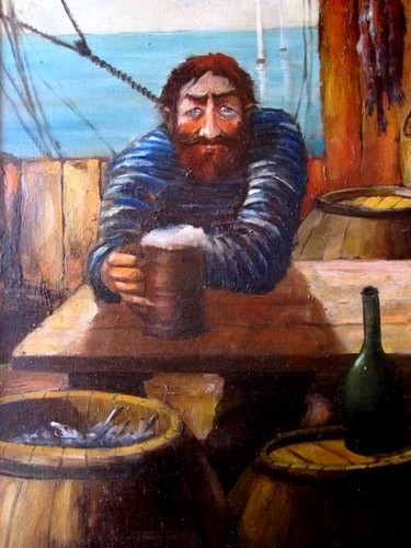 старый рыбак художника