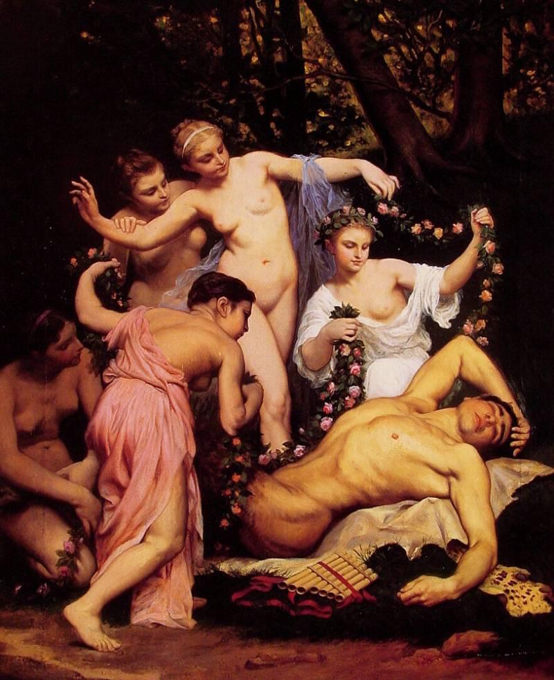 сатиры и нимфы картинки
