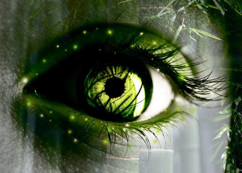 У тебя глаза зеленые стих