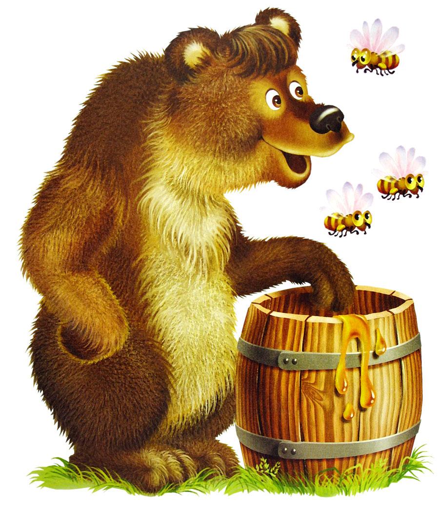 Мед с рисунками медведи